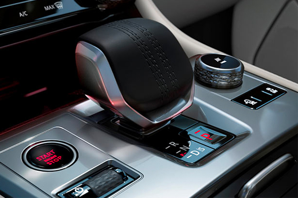 Close-up of Jaguar F-PACE Gearshift.