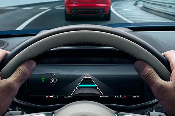 Jaguar Driver's Console Assistance Feature Display.