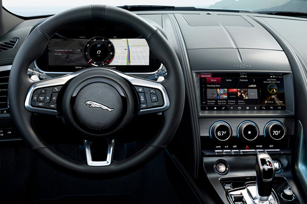 F-TYPE driver's seat perspective.