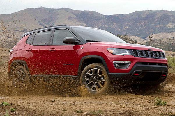 2021 jeep compass on a terrain