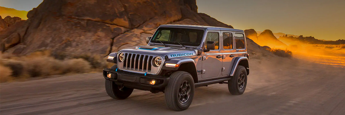 Side view of 2021 Jeep Wrangler 4xE