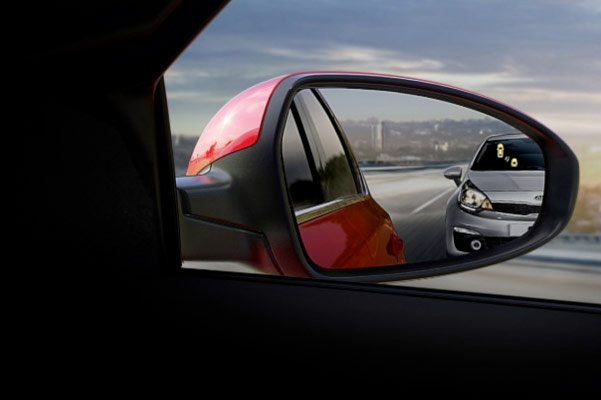 2021 Kia Forte blind spot indicator on side mirror
