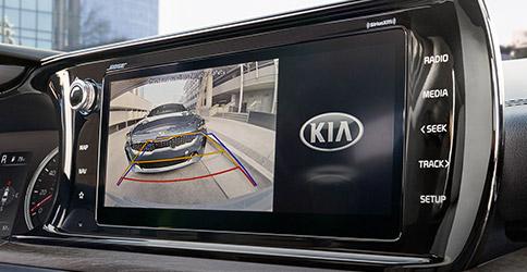 rear camera in action on the 2021 kia k5