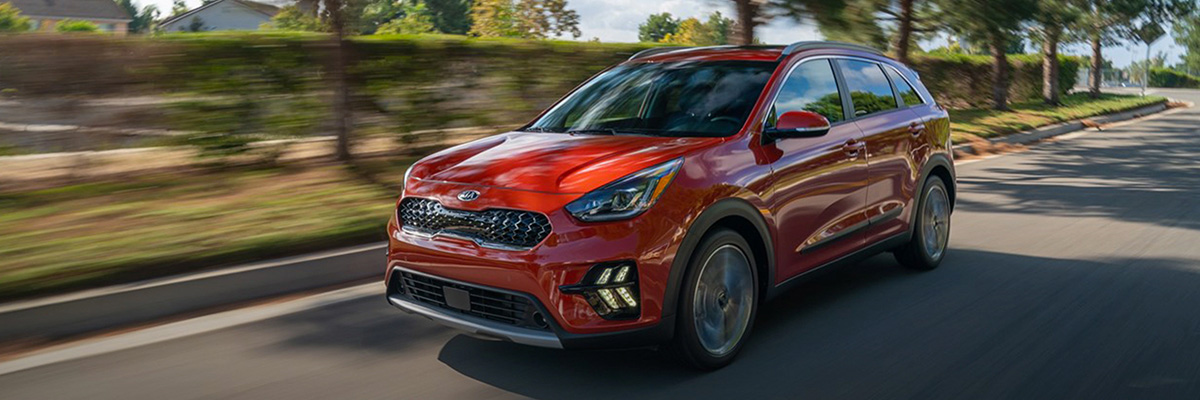 2020 Kia Niro on road