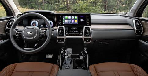 dash view of the 2021 kia sorento