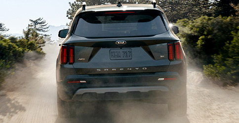 2021 Kia Sorento Utilizing Hill Start Assist Control To Drive Up A Hill Rear View