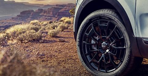 tire shot of the 2021 kia telluride