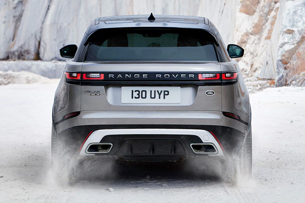 Range Rover Velar rear view.