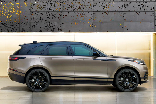 side view of Range Rover Velar.