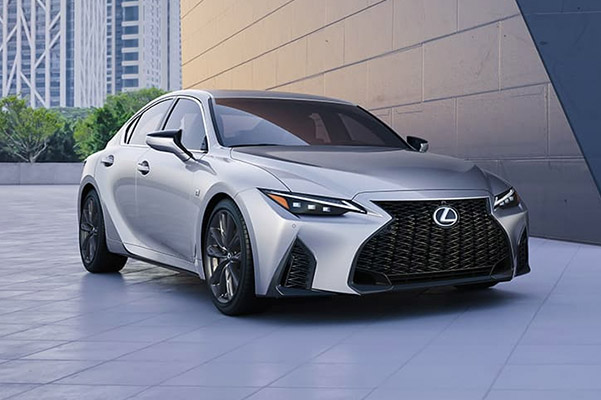 2021 Lexus IS driving on the road