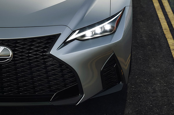 2021 Lexus IS close up headlight shot