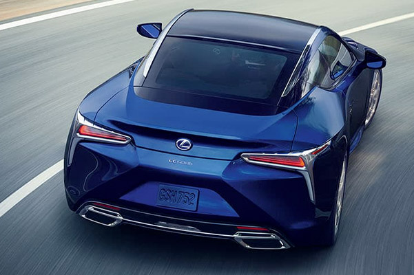 Exterior of the Lexus LC shown in Nightfall Mica.