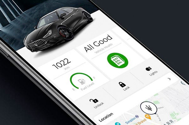 2021 Maserati Ghibli on Maserati app