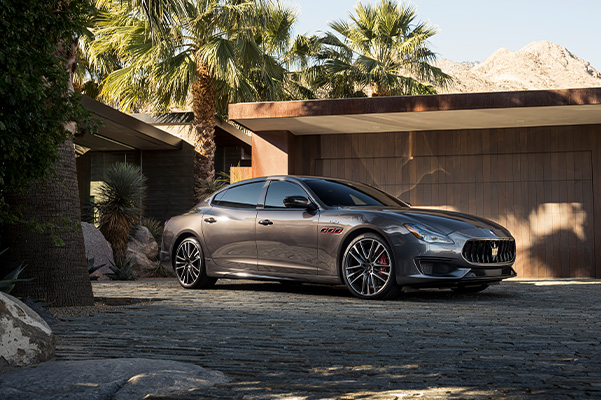 2021 Maserati Quattroporte parked in front of a house