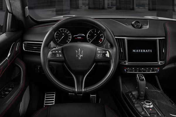 interior dash view of the 2021 Maserati Quattroporte