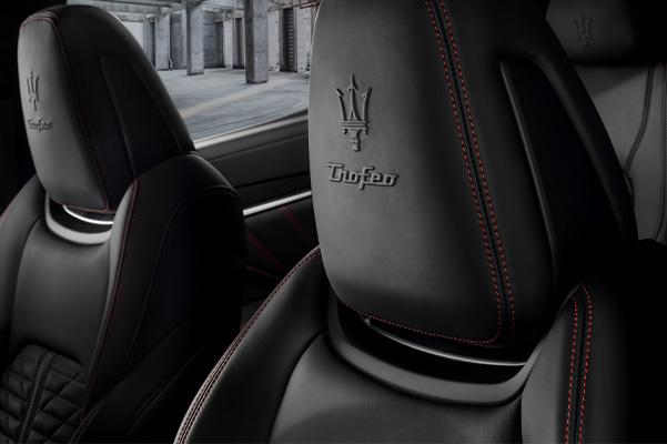 headrest of the 2021 Maserati Quattroporte Trofeo