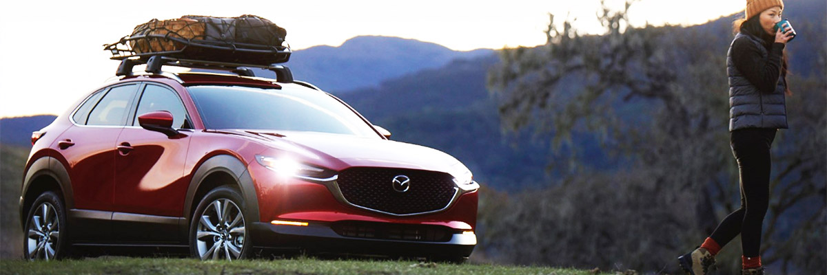 2021 Mazda CX-30 with mountain background