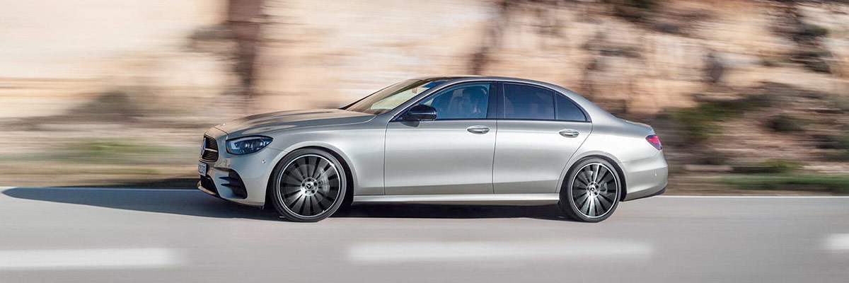2021 Mercedes-Benz E-Class Side view on road