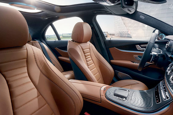 2021 Mercedes-Benz E-Class Tan Seats