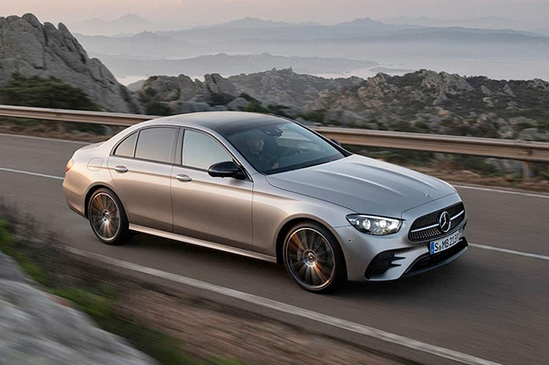 2021 Mercedes-Benz E-Class Front driving on road