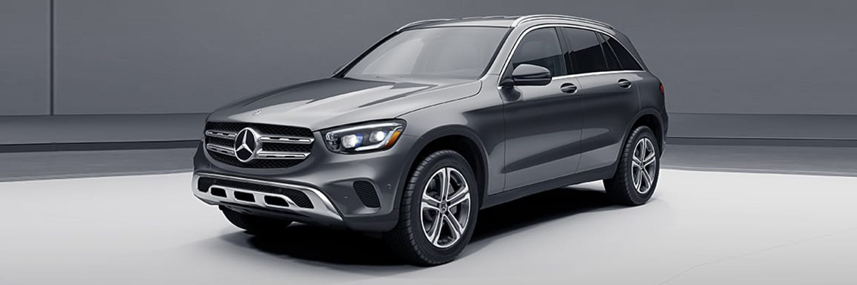 2021 Mercedes-Benz GLC 300 Side view on road