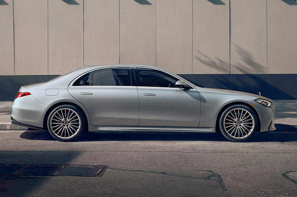2021 Mercedes-Benz S-Class parked on a street