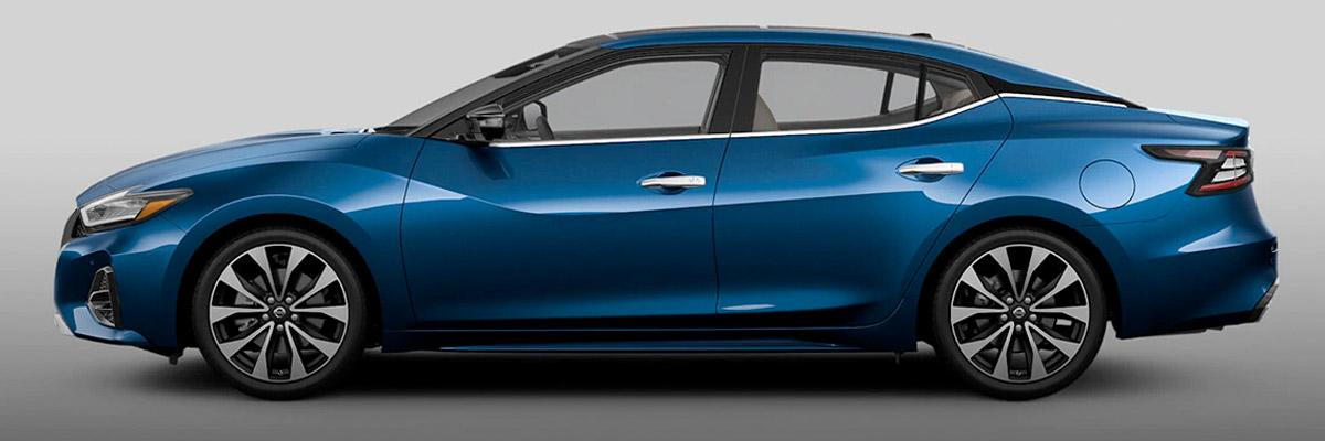 Blue Nissan Maxima