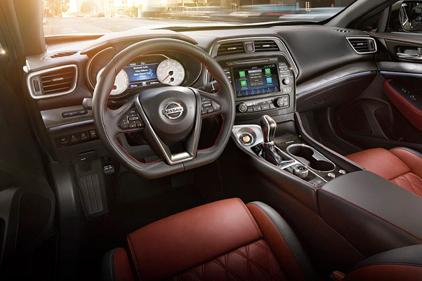 2021 Nissan Maxima showing ambient interior lighting