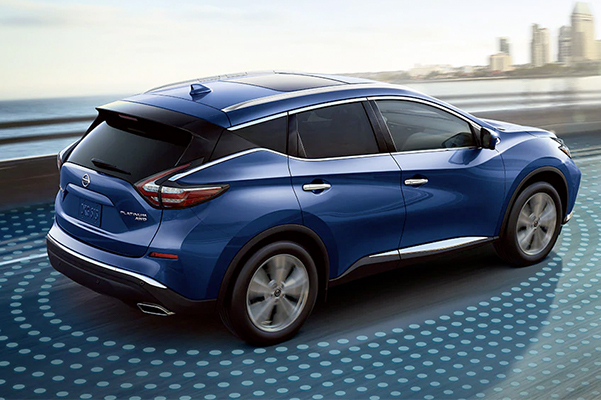 nissan murano showcasing safety features for the intelligent mobility
