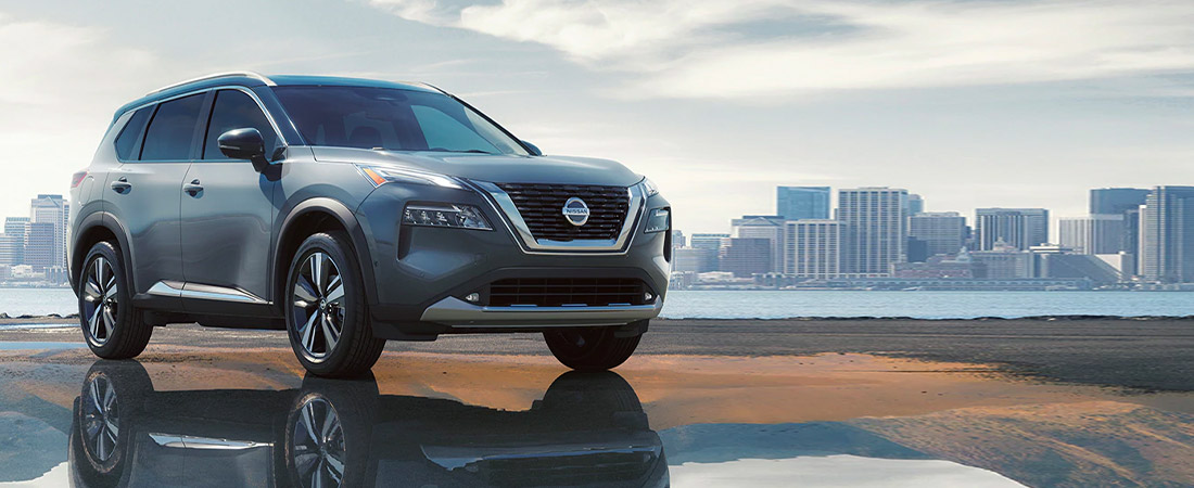 2021 Nissan Rogue shown in gray