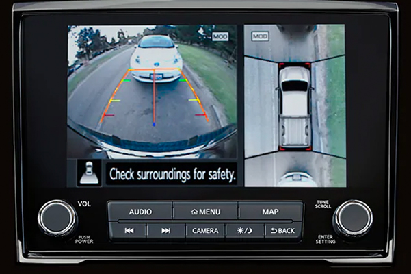 2021 Nissan TITAN intelligent around view monitor screen and backup camera
