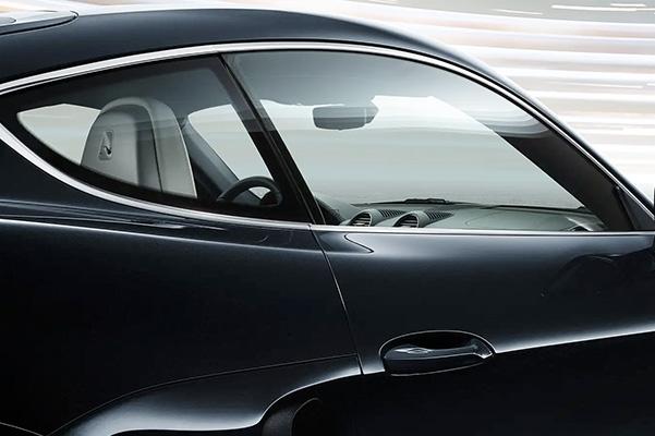 side window view of a back 2021 Porsche 718 Cayman