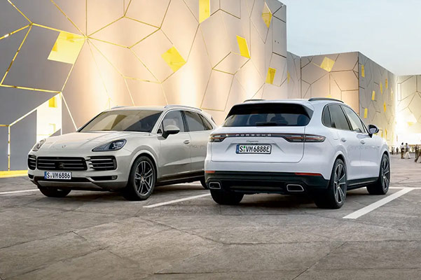 Front and back of 2021 Porsche Cayenne