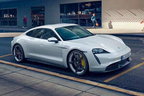 2020 Porsche Taycan front