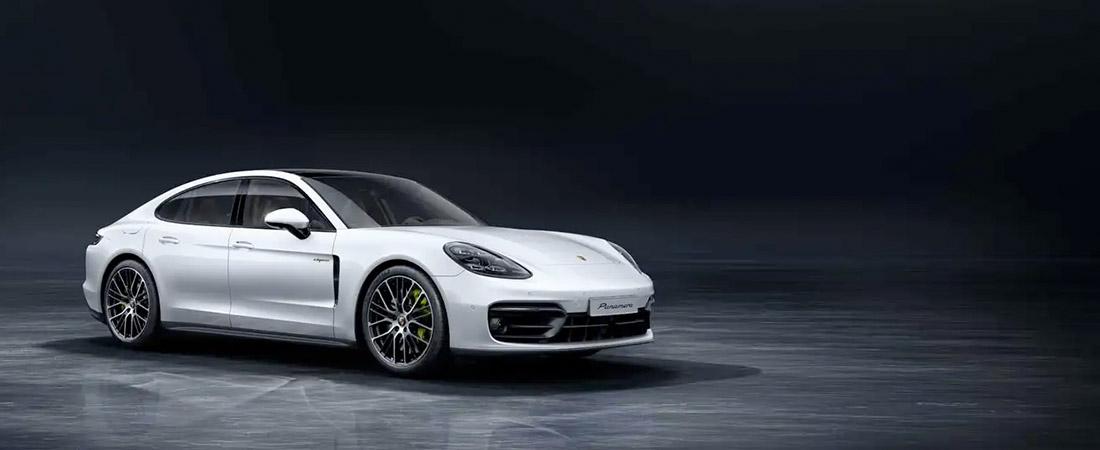 White 2021 Porsche Panamera front view