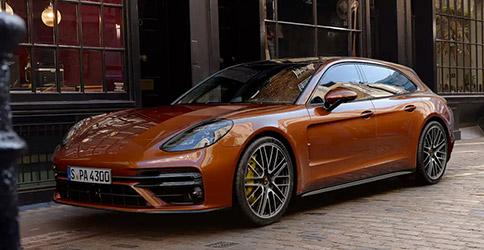 Orange 2021 Porsche Panamera Front view