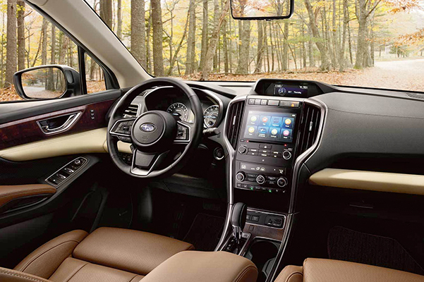 Subaru Image: Touring interior shown in Java Brown Leather
