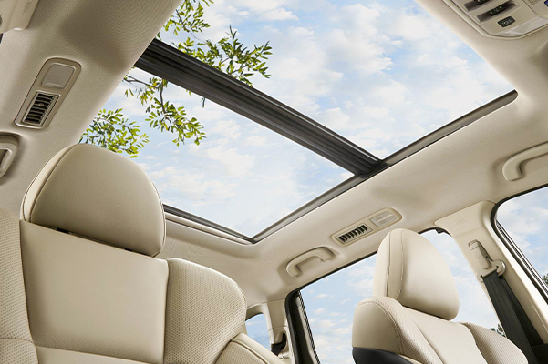 Subaru Image: Available panoramic power moonroof