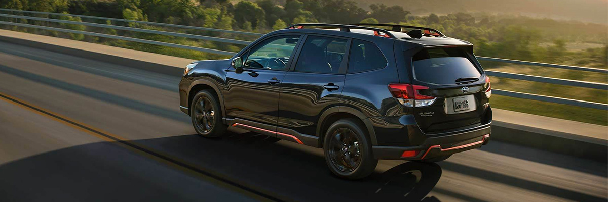 2021 Subaru Forester on highway