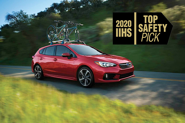 Impreza with Top Safety pick logo