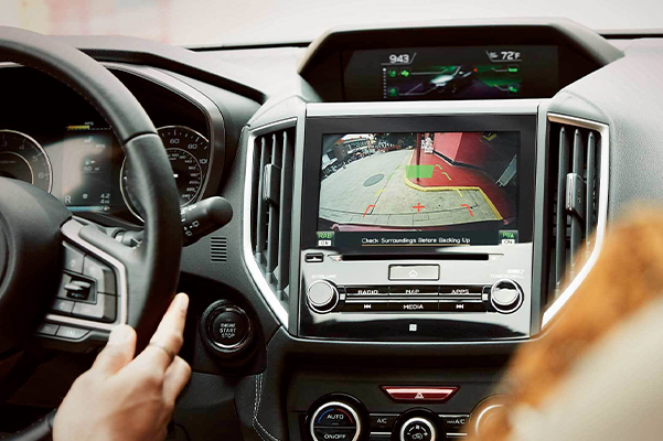Standard Rear-Vision Camera and available 8.0-inch display