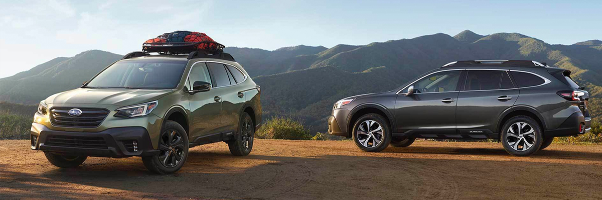2021 Subaru Outback - front and side view