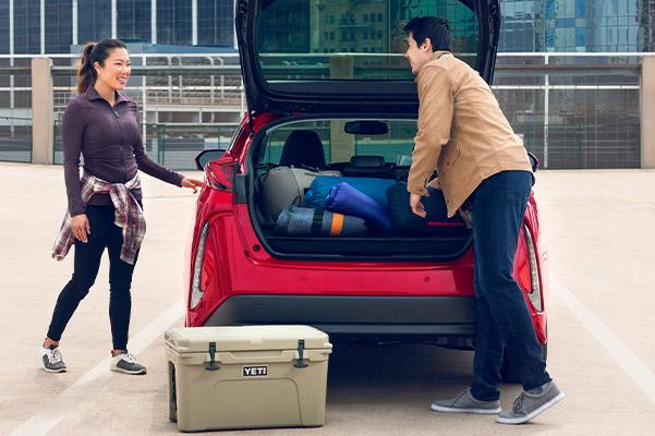 2021 Toyota Prius Prime Storage in trunk
