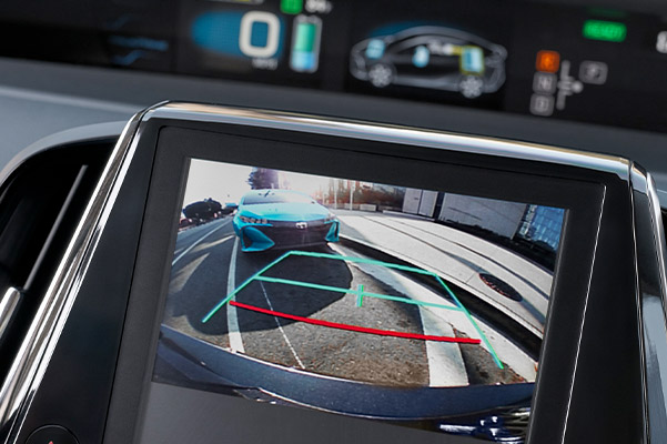 Integrated backup camera display shown on the available 11.6-in. multimedia display