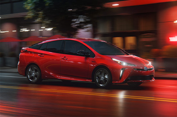 2021 Toyota Prius Prime Driving on dark road