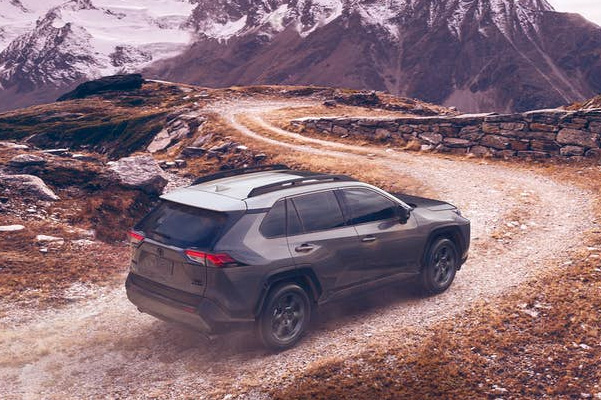 Toyota Rav4 driving with scenic background