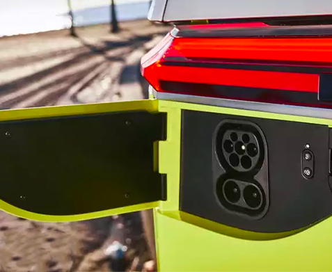 ID. Buzz concept vehicle charging port
