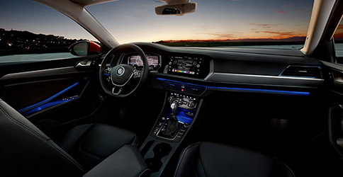 interior dashboard view of the 2021 vw jetta