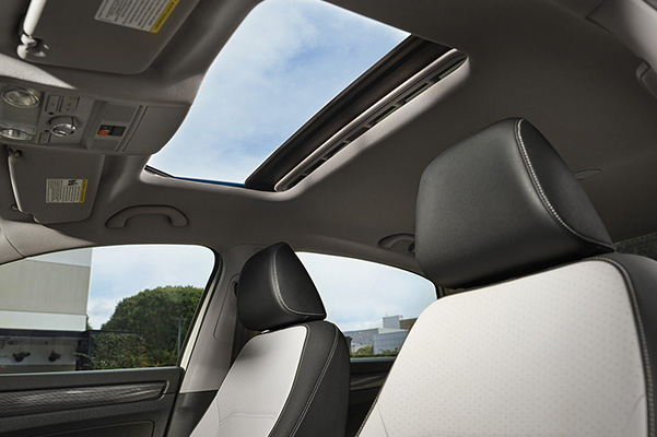 Available sunroof seen from inside the vehicle