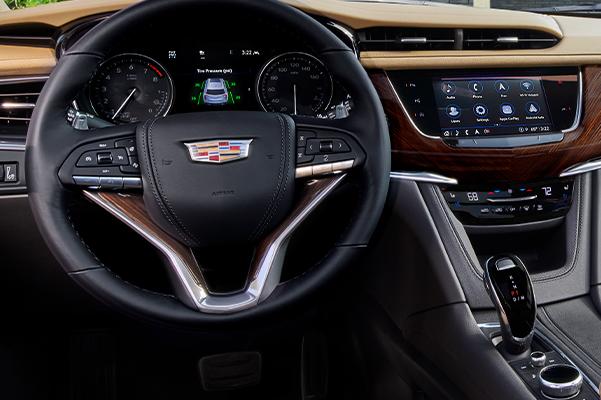 2022 Cadillac XT6 Sport w Platinum Package interior shot - wide dash view;